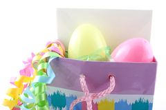 Easter gift bag Stock Photography