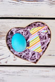 Easter gift box with egg. Royalty Free Stock Image