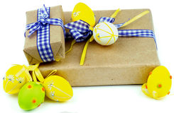 Easter Gift Boxes Royalty Free Stock Image