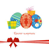 Easter gift card Stock Photo