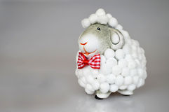 Easter gift: Sheep toy Stock Photos