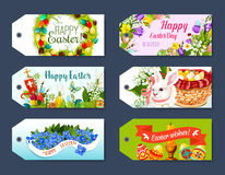Easter gift tag and greeting label set design Royalty Free Stock Photos