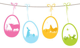 Easter gift tags Royalty Free Stock Image