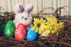 Easter gifts with their hands Royalty Free Stock Images