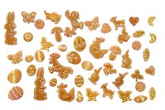 Easter ginger breads Royalty Free Stock Images
