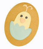 Easter Gingerbread. Gingerbread chick in eggshell isolated on a white background Stock Photography