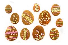 Easter gingerbread cookies - czech tradition Stock Photo