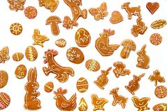 Easter gingerbread cookies - czech tradition Stock Image