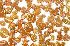 Easter gingerbread cookies - czech tradition Royalty Free Stock Photography