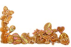 Easter gingerbread cookies - czech tradition Royalty Free Stock Photos