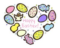 Easter gingerbread cookies royalty free illustration