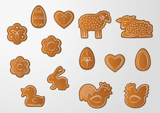 Easter gingerbread cookies Stock Photography