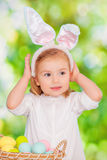 Easter girl Stock Photo