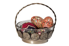 Easter glass basket Stock Image