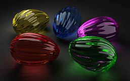Easter Glass Eggs Royalty Free Stock Photo