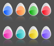 Easter buttons. Easter glossy buttons. Colorful labels with reflections. Vector illustration Royalty Free Stock Photography
