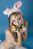 Easter Goddess. Looking cute and adorable Royalty Free Stock Image