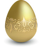 Easter gold egg Stock Photos