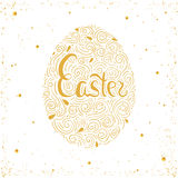 Happy Easter card. Easter background. Easter sunday. Easter golden egg. Easter hand lettering.Easter greeting card. Happy Easter card. Easter background. Easter Stock Images