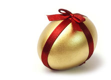 Easter Gold egg Royalty Free Stock Photos