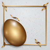 Easter gold eggs with confetti gold and bright colors place for. Text abstract background. illustration Stock Photos