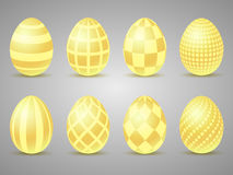 Easter gold eggs icons. Eggs for Easter holidays Stock Photography