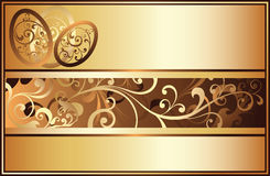 Easter golden banner, Stock Photography