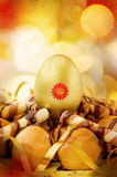 Easter golden egg Royalty Free Stock Image