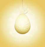 Easter Golden Egg Stock Photo