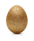 Easter golden egg isolated Royalty Free Stock Image