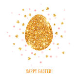 Easter golden egg Stock Photos
