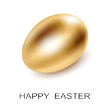 Easter Golden Egg on white background. Stock Image