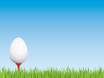 Easter golf. Egg shaped golf ball with seamless grass.  Grouped and easy to edit.  Please check my portfolio for more golf illustrations Stock Image