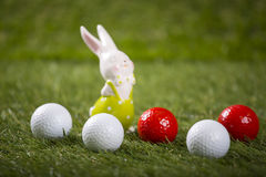 Easter golf balls Royalty Free Stock Photography