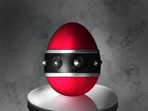 Easter gothic egg. Illustration - 3D rendering of an easter egg in gothic/metal style Stock Image