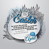Easter graphic creative card Template Stock Images