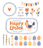 Easter graphic set vector illustration