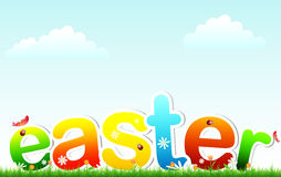 Easter on grass Stock Photography