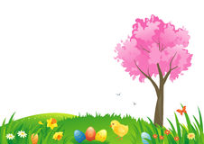 Easter grass. Illustration of an Easter scenery Royalty Free Stock Images