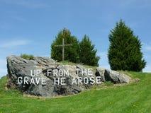 easter gravestone arkivbild