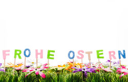 Easter greatings. In german letters easter greatings Royalty Free Stock Photos