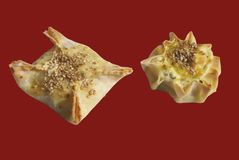Easter Greek cheese samosa Royalty Free Stock Photos