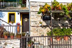Easter greek rural house wall, Greece. Easter decorations on typical greek rural house wall view at village of Pelion, Greece Royalty Free Stock Images