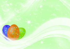 Easter green background. Abstract light background with easter eggs Stock Image