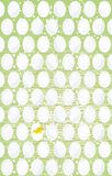 Easter green background with eggs and chicken Royalty Free Stock Image