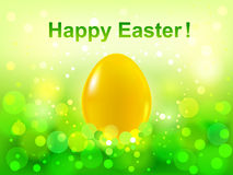 Easter green  bokeh background. Happy Easter Stock Photos