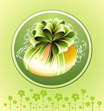Easter green card with egg Royalty Free Stock Photography