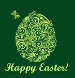 Easter green card Stock Photos