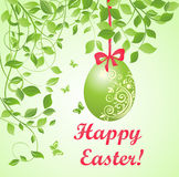 Easter green card Royalty Free Stock Photography