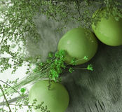 Easter green eggs Royalty Free Stock Images